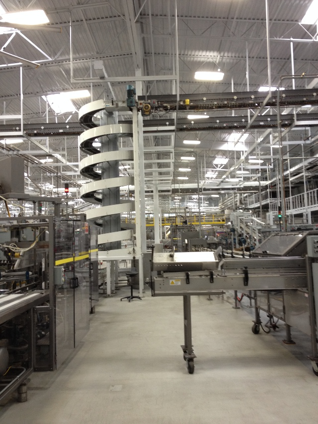 Part of the canning line.
