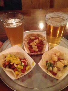 City Tacos tacos and Insurgente Beer