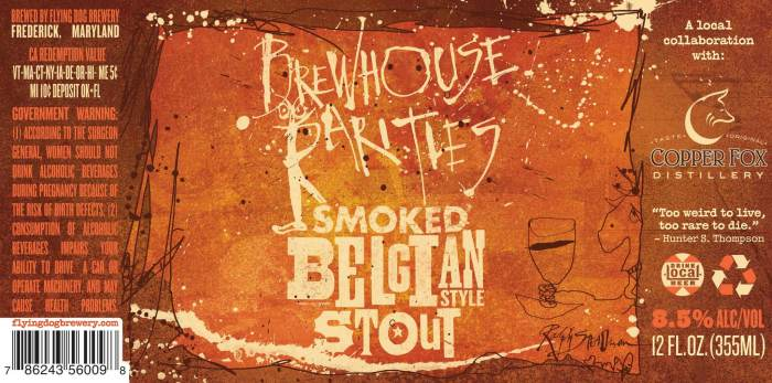 Flying Dog and Copper Fox Distillery Brewhouse Rarities Smoked Belgian Stout