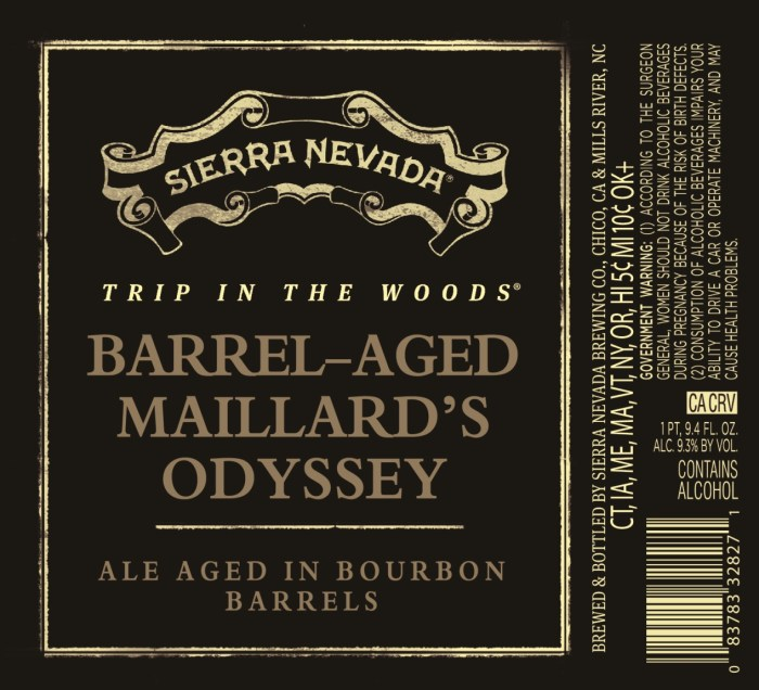 Sierra Nevada Trip to the Woods Barrel-Aged Mallard's Odyssey