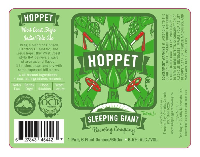 Sleeping Giant Hoppet IPA