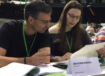 Bild: Bündnis 90/Die Grünen Braunschweig, Braunschweiger Delegierte Grüner Bundesparteitag 2017