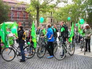 Grüne Fahrradtour durch die Braunschweiger Innenstadt 21.09.2013 (Rathausvorplatz)