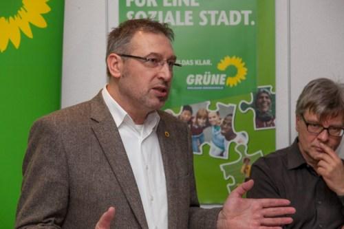 Unser OB-Kandidat Holger Herlitschke (mit Wolfram Pehlke)