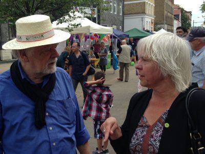 Foto: Bündnis 90/Die Grünen Braunschweig, Juliane Krause am Stadtteilfest Westliches Ringgebiet, Bundestagswahl 2017