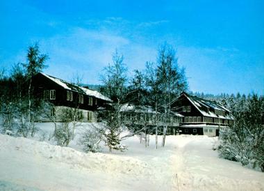 Haus am Ebbehang als Postkartenmotiv