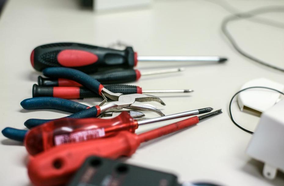Repair Café in Meinerzhagen, Werkzeugsortiment