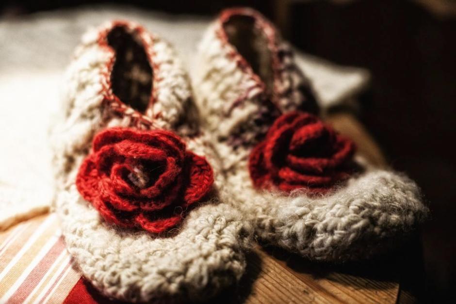 Für Kinder: Hausschuhe aus Schafwollresten © 2016 Foto: Stefanie Schildchen