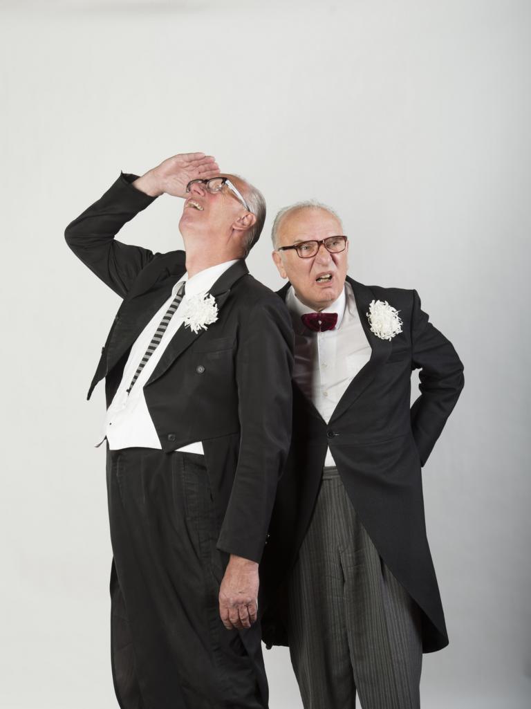 Kabarettistenduo Rainer Pause und Norbert Alich
