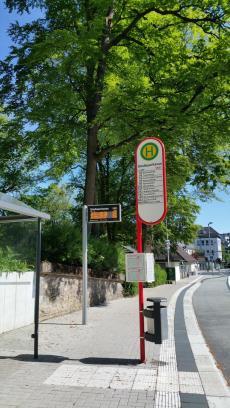 Haltestelle am Volkspark, Meinerzhagen. © Foto: Stefanie Schildchen