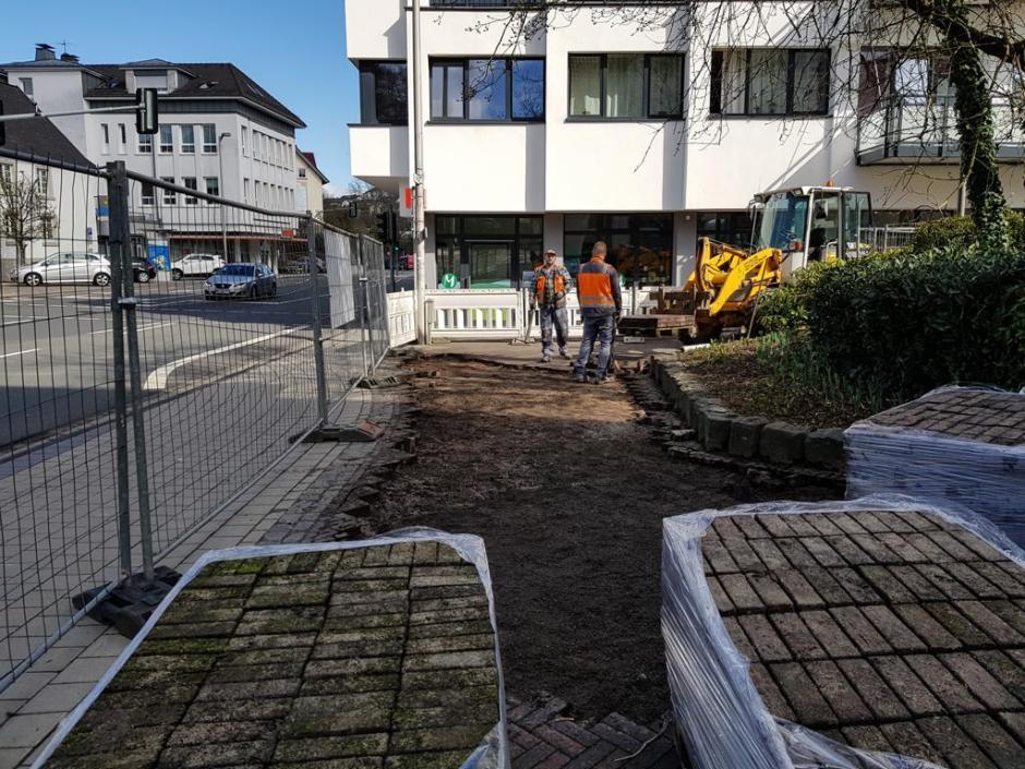 Meinerzhagen, Volmestraße, Pflasterarbeiten © Foto: Stefanie Schildchen