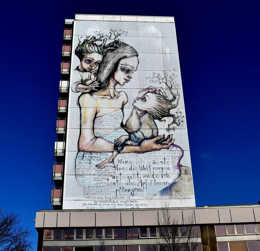 Bemalte Hausfassade Berlin Weissensee