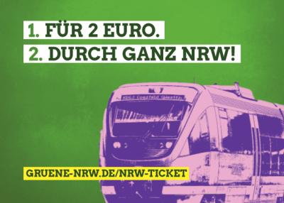 Für 2 € durch ganz NRW!