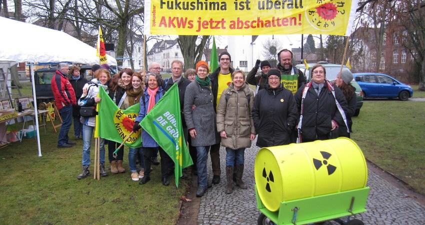 Menschenkette Jahrestag Fukushima-GAU