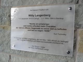 Gedenktafel für Willy Langenberg