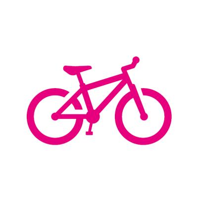 Piktogramm magenta Fahrrad