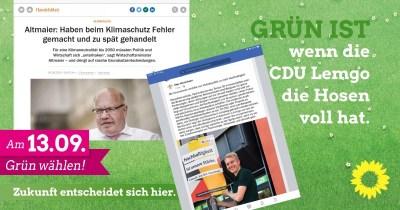 GRÜN IST wenn die CDU Lemgo die Hosen voll hat