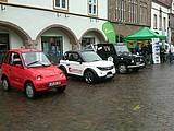Elektrofahrzeuge auf dem Lemgoer Marktplatz