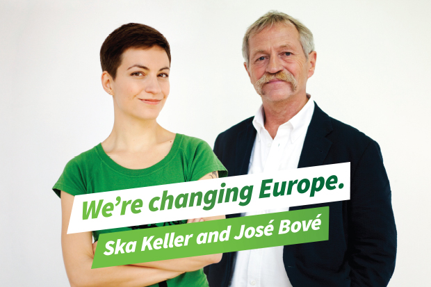 Gemeinsame Spitzenkandidaten der gesamteuropäischen Grünen Partei: Ska Keller & José Bové