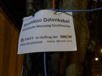 Info-Schild der SWM