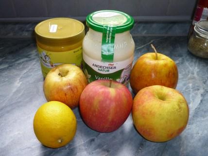 So einfache Zutaten für das Apfel-Eis!