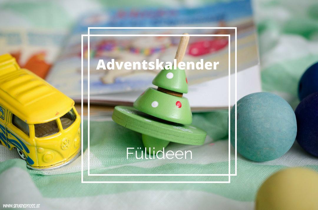 Adventskalender Füllideen für Kleinkinder