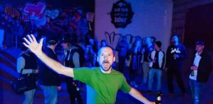 Fränker. Company Slow live im Cafe Q. Indoor Skateramp. Cafe Q. Live Rap Coburg.