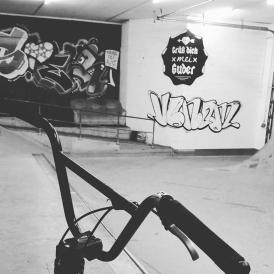 BMX. Kunst und so - Grüß dich mei Guder. Street Art. Graffiti Coburg. JDE TDN CSW GDMG!