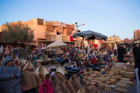 Bustling square by the souk