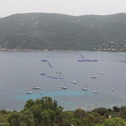 La flotte à Campomoro