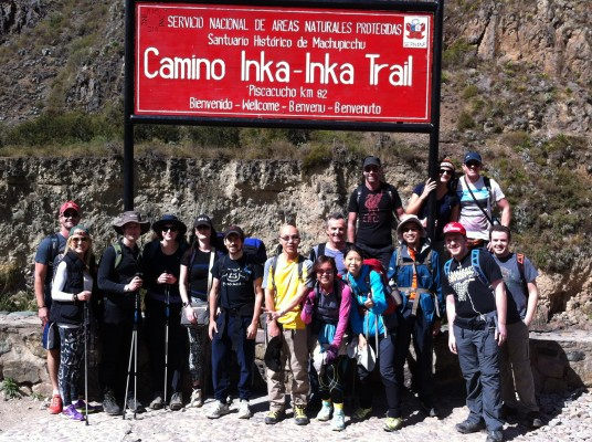 Group picture just before starting Inca trail