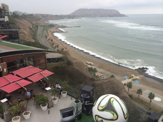 View from Larcomar mall - Lima, Peru.