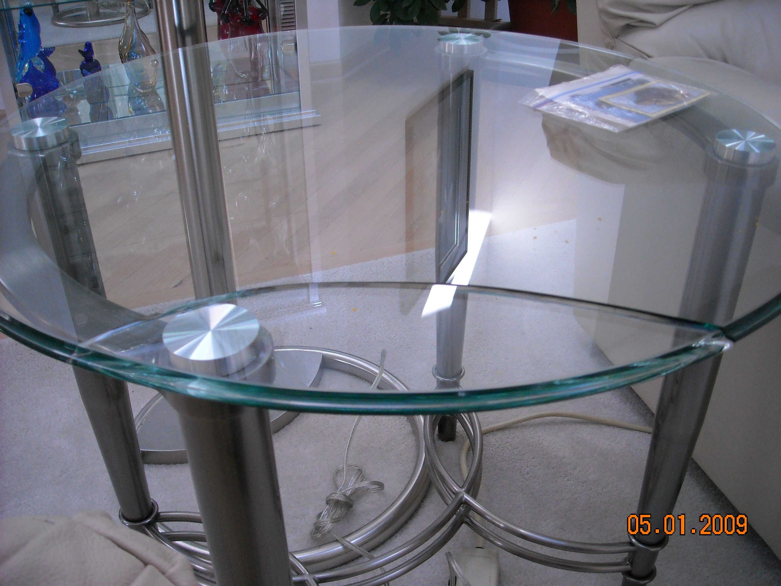 Cracked Glass Table Made by Progressive Furniture