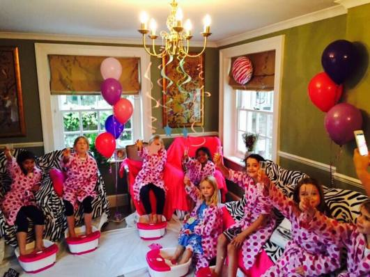 childrens spa parties essex