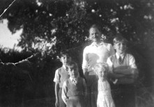 August 1952, Bloxham near Banbury, with my uncle Bernard, my mother's brother-in-law, and cousin Bernice, who now with her husband runs a wholesale plant nursery in Broadway, Somerset. We were staying in Bloxham in 1952 because my mother was seriously ill in hospital. She was quite ill for much of my childhood; the good thing about it was I could cook from 7 years old, of necessity.