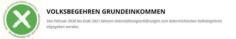 Österreichisches Volksbegehren Grundeinkommen – jetzt unterschreiben