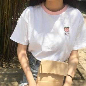 T-shirt fruits frais pêche
