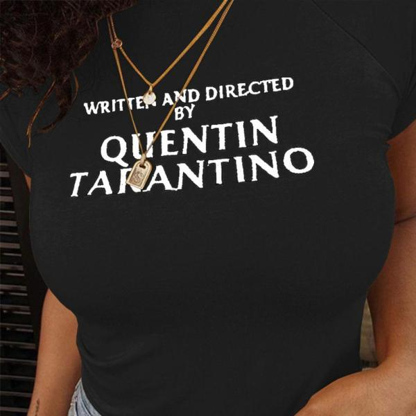 t-shirt written and directed by quentin tarantino noir