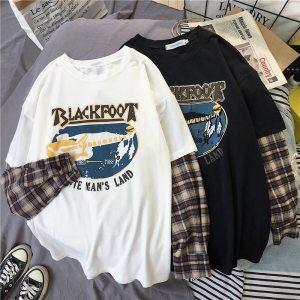 T-shirt grunge et egirl Blackfoot