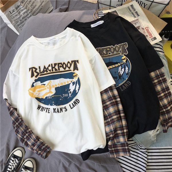 T-shirt grunge Blackfoot