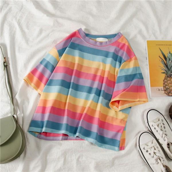 T-shirt vsco arc-en-ciel clair