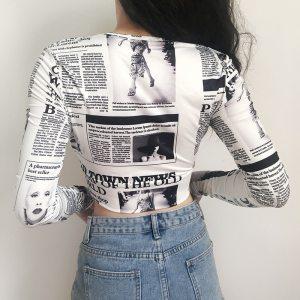 Chemise baddies journaux vue de dos