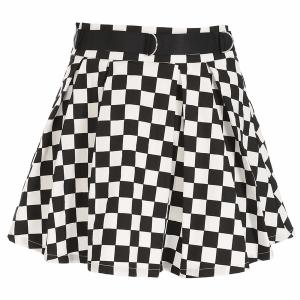 Jupe quadrillée noir et blanc