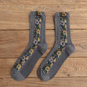 Chaussettes Vintage - Fleuri