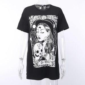 T-shirt gothique - Sorcière
