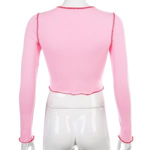 Crop top rose - Cerise