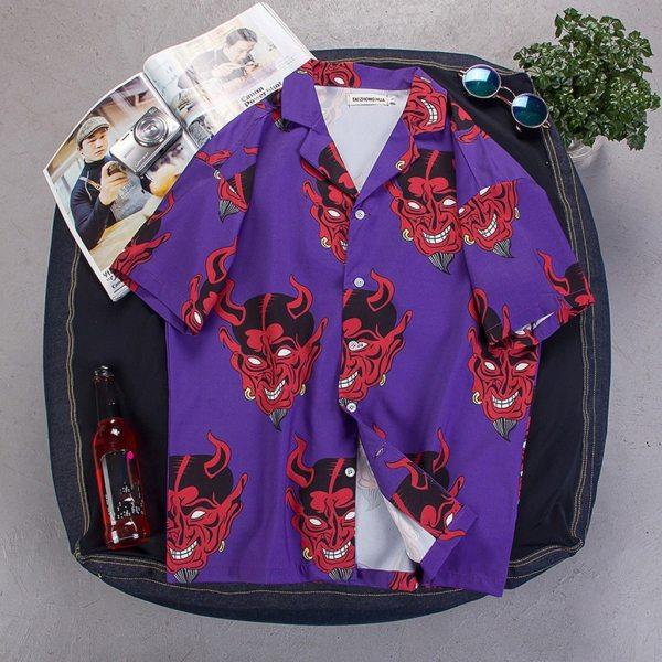 Chemise yakuza - Diable rouge