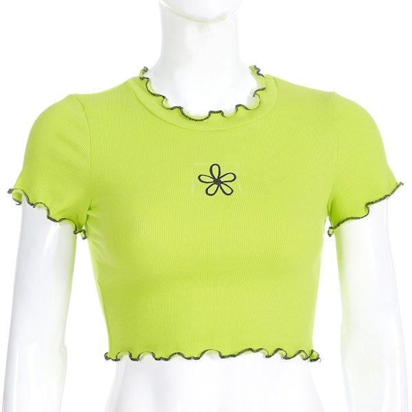 T-shirt manches courtes - Jaune fluo