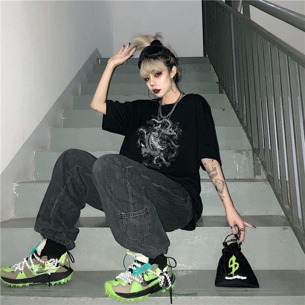 T-shirt style streetwear - Dragons coréen