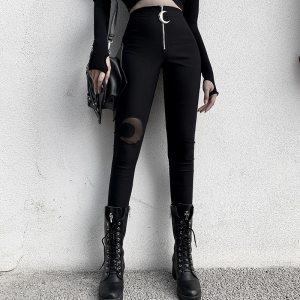 Pantalon noir moulant - Lune